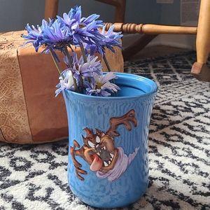 Vintage 3d Taz looney tunes flower vase